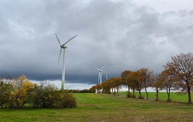 Herbst-Wind-Strom