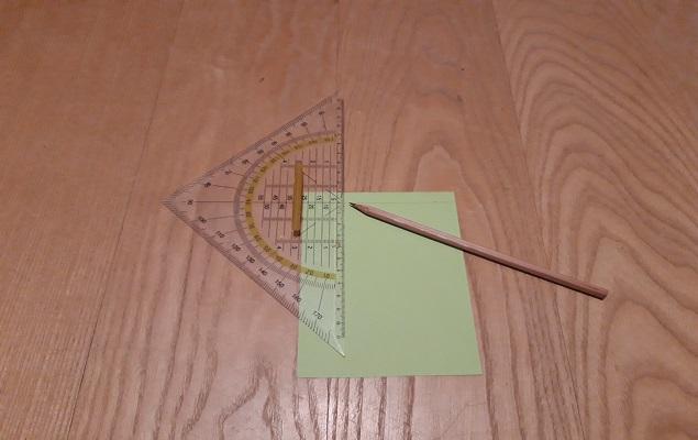 Experimentierbild: Abmessungen auf Blatt auftragen