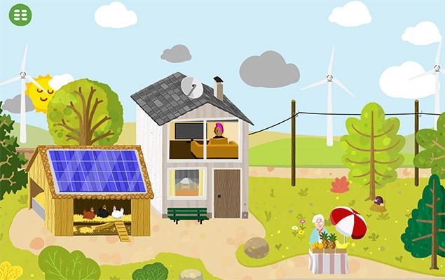 Screenshot aus der Energie Wimmel-App