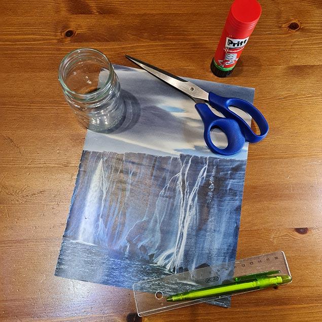 Arbeitsanleitung Blumentopf aus Papier: Materialbedarf