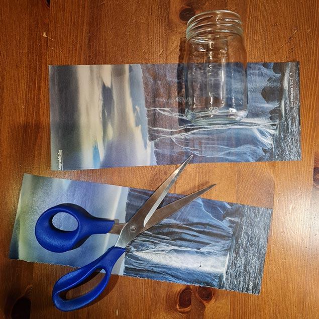 Arbeitsanleitung Blumentopf aus Papier: Papierstreifen schneiden