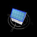Grafik von Haus mit Solarzellen, nach Nord und Süd ausgerichtet