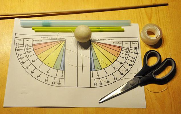Bauanleitung Windstärkemesser: Materialbedarf