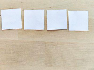 Weiße Papierstücke